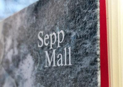 Sepp Mall: Holz und Haut. Umschlaggestaltung